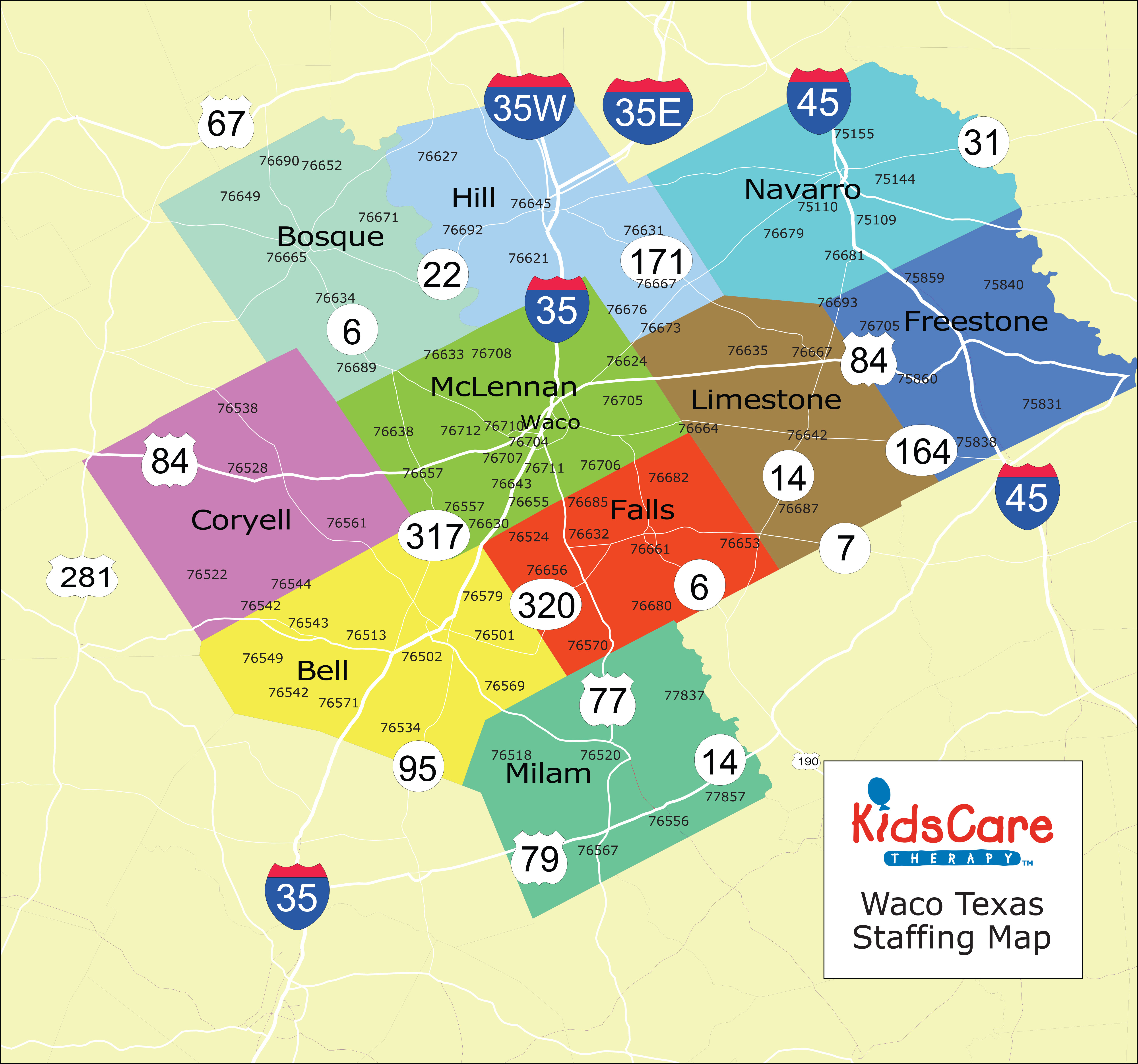KidsCare Home Health Waco Maps
